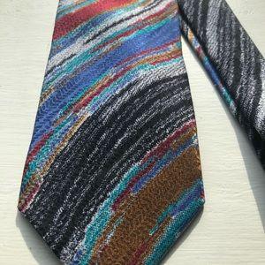 Missoni Cravatte Italian silk classic print tie